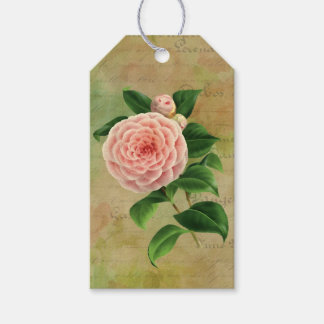 Vintage Camellia French Botanical Gift Tags