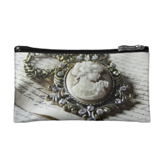 Vintage Cameo Carving Cosmetic Bag