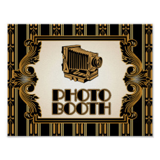 Vintage Camera 1920's Photo Booth Poster
