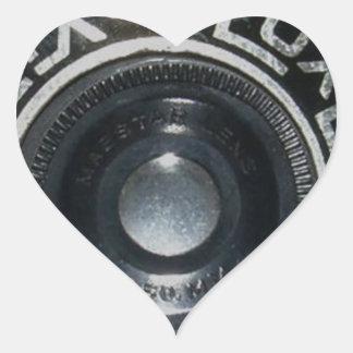 Vintage Camera 2 Heart Sticker