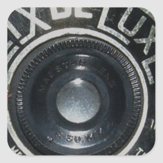 Vintage Camera 2 Square Sticker