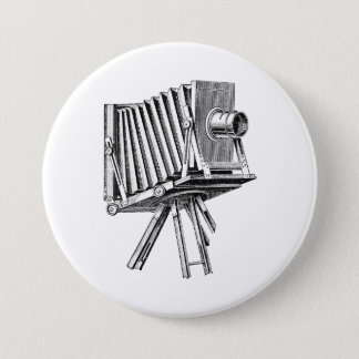 Vintage Camera - Antique Cameras Photography Black 7.5 Cm Round Badge