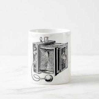 Vintage Camera - Antique Cameras Photography Black Coffee Mug