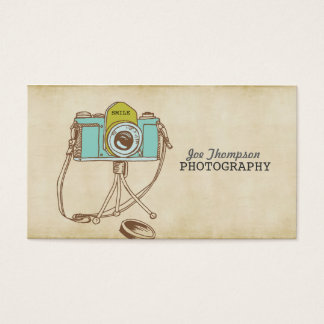 Vintage Camera Art Photographer Business Cards