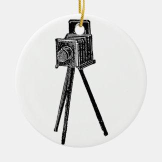 Vintage Camera Ceramic Ornament