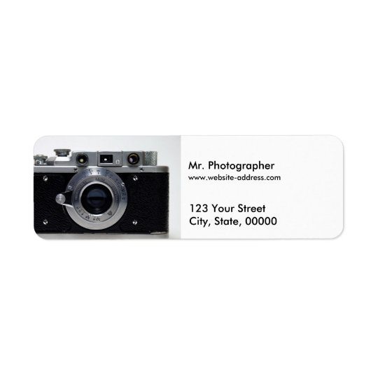 VINTAGE CAMERA Collection 01 Address Labels 1
