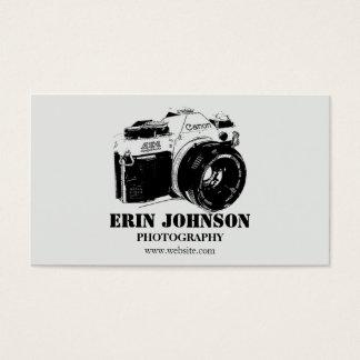 Vintage Camera, Grey Design Business Card