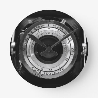 Vintage camera lens clocks