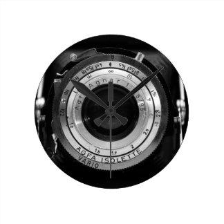 Vintage camera lens round clock
