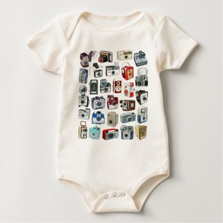 Vintage Camera Montage Baby Bodysuit