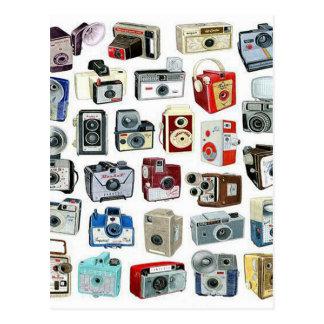 Vintage Camera Montage Postcard