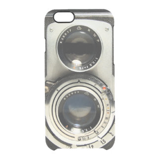Vintage Camera Pattern - Old Fashion Antique Look Clear iPhone 6/6S Case