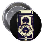 Vintage camera pinback buttons