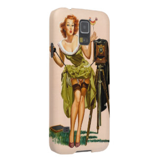 Vintage Camera Pinup girl Galaxy S5 Covers