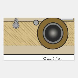 Vintage Camera Rectangular Sticker