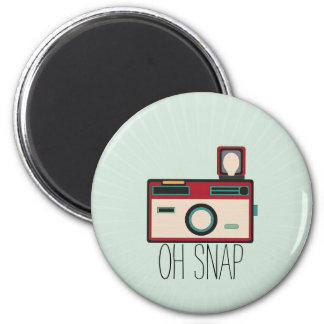 Vintage Camera Retro Look Oh Snap Magnet