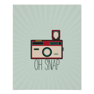 Vintage Camera Retro Look Oh Snap Poster