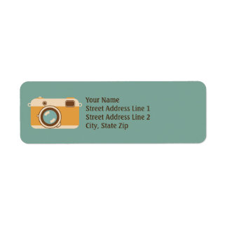 Vintage Camera Retro Return Address Labels