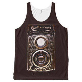 Vintage camera rolleicord art deco All-Over print singlet