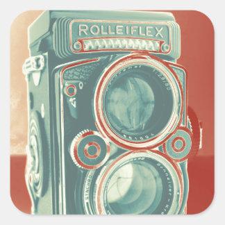 Vintage Camera Square Sticker