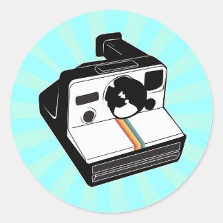 Vintage Camera Round Sticker