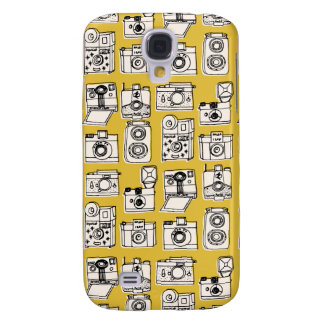 Vintage Cameras - Mustard Yellow / Andrea Lauren Galaxy S4 Covers