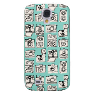 Vintage Cameras - Pale Turquoise / Andrea Lauren Samsung Galaxy S4 Cover