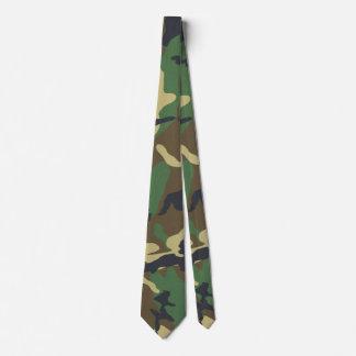 Vintage Camouflage Print Tie