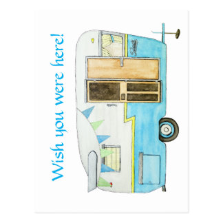 Vintage Camper Post Card