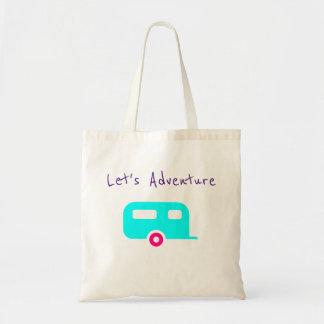"Vintage Camper Tote ""Let's Adventure"""