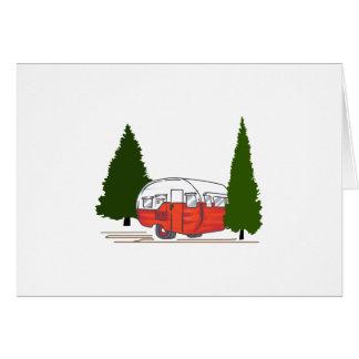 Vintage Camping Card