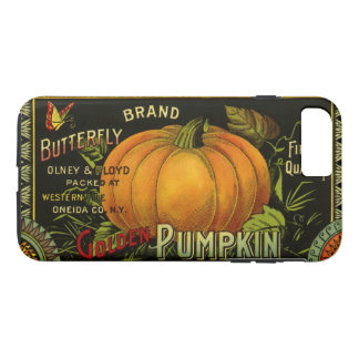 Vintage Can Label Art, Butterfly Pumpkin Vegetable iPhone 8 Plus/7 Plus Case