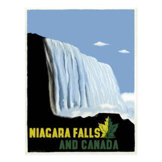 Vintage Canada and Niagara Falls Travel Postcard
