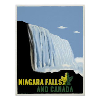 Vintage Canada and Niagara Falls Travel Poster