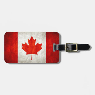 Vintage Canada Flag Luggage Tag