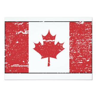 Vintage Canadian Flag Card