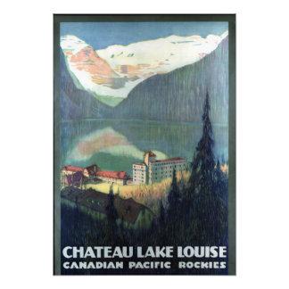 Vintage Canadian Rockies Lake Louise Travel Photo Print