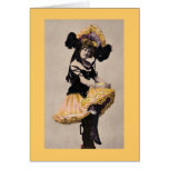Vintage Cancan Woman Greeting Card