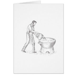 Vintage Candlemaker Foundry Drawing Card