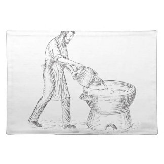 Vintage Candlemaker Foundry Drawing Placemat