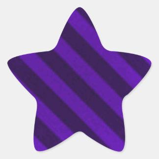 Vintage Candy Stripe Amethyst Purple Grunge Star Stickers