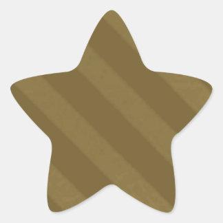 Vintage Candy Stripe Coffee Mocha Brown Grunge Star Sticker