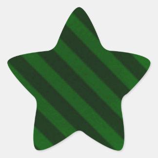 Vintage Candy Stripe Emerald Green Grunge Star Stickers