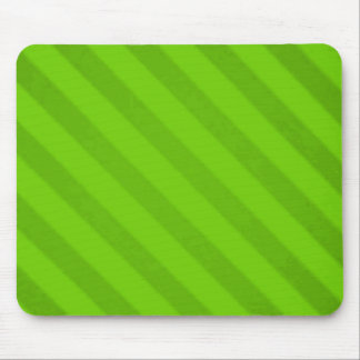Vintage Candy Stripe Key Lime Green Grunge Mouse Pad