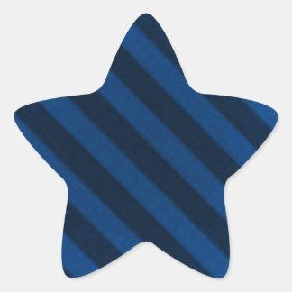 Vintage Candy Stripe Sapphire Blue Grunge Star Sticker