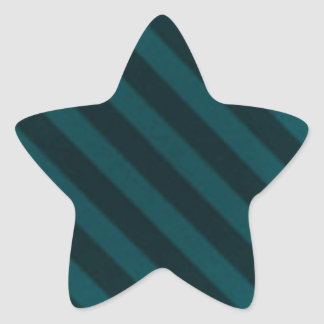Vintage Candy Stripe Turquoise Teal Grunge Star Sticker