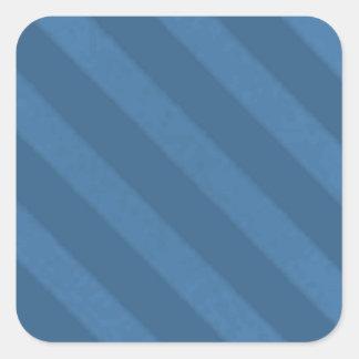 Vintage Candy Stripe Wallpaper Powder Blue Grunge Square Sticker
