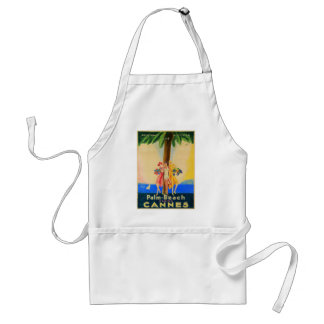Vintage Cannes French Travel Standard Apron