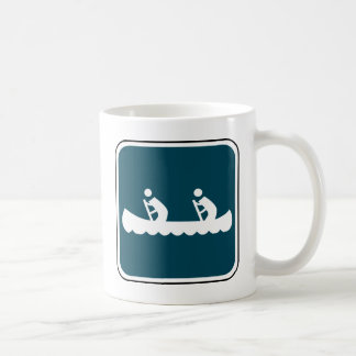 Vintage Canoe Sign Coffee Mug