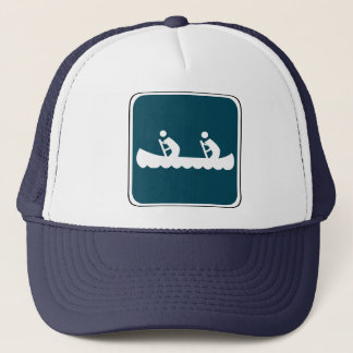Vintage Canoe Sign Trucker Hat